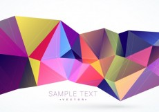Free vector Background with colorful polygonal shape #14149