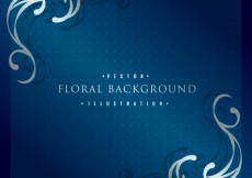 Free vector Background with silver floral ornaments #14145