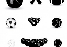 Free vector Balls icons collection  #14213