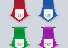 Free vector Banners in arrow shape #15948