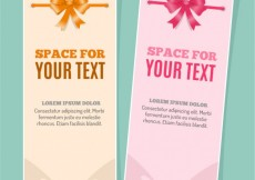 Free vector Banners template with ribbons #15458