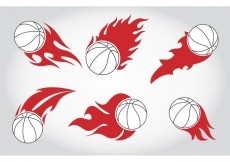 Free vector Basket Ball on Fire Vectors #20223