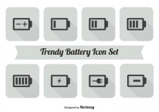 Free vector Battery Icon Set #17889