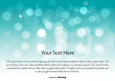 Free vector Beautiful Blue Bokeh Background Illustration #13395