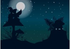Free vector Beautiful Night with Gnomes Vector #19849