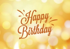 Free vector Birthday card in bokeh style #18038