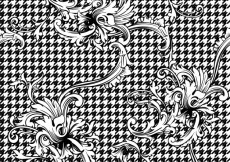 Free vector Black and white ornamental background #18552