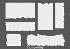 Free vector Blank Ripped Paper Vectors #12782