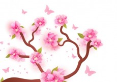 Free vector Blooming branches background #17962