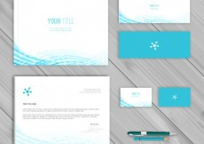Free vector Blue corporate identity template #14108