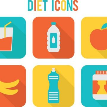 Free vector Bright Diet Vector Icons #17523