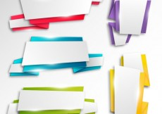 Free vector Bright origami banners #15388