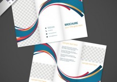 Free vector Brochure design with abstract waves  #12263
