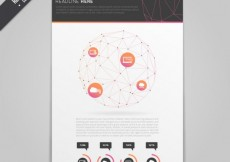 Free vector Brochure template with polygonal circle #13998