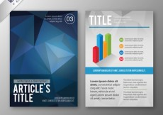 Free vector Brochure with blue polygons #16122