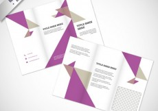 Free vector Brochure with purple and gray triangles #12259