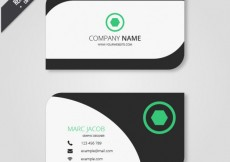 Free vector Business card in modern style #19151