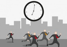 Free vector Businessmen against time #18777