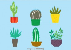 Free vector Cactus In A Pot Vectors #14350
