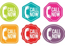 Free vector Call Us Now Vector Badges #13179