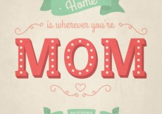Free vector Card for mothers day in lettering style #18997