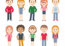 Free vector Casual characters #15462