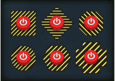 Free vector Caution On Off Button Vectors #19471