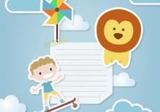 Free vector Children's note in boy style #12325