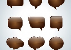Free vector Chocolate speech bubbles #13276