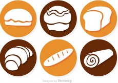 Free vector Circle Bread Vector Icons #13845