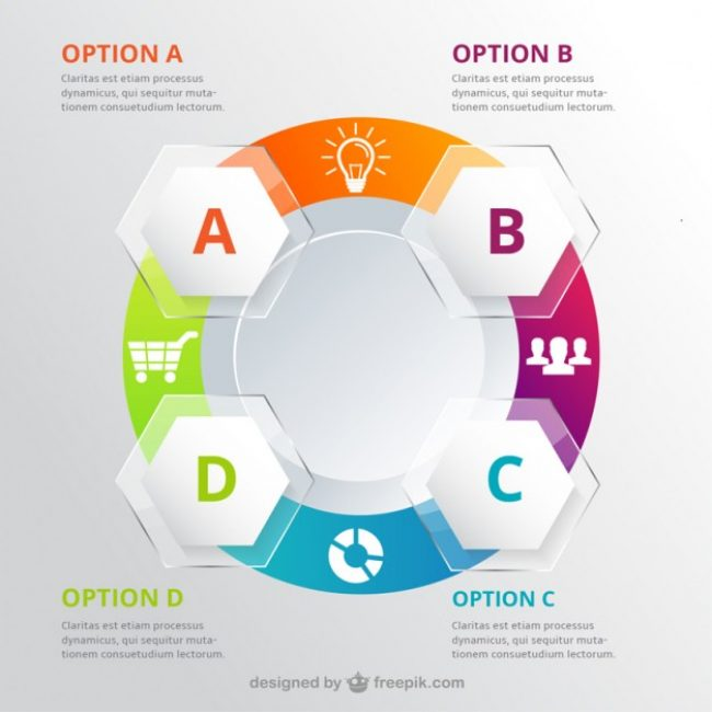 Free vector Circle infographic for workflow #14301