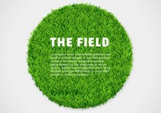 Free vector Circle of green grass #17593