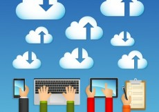 Free vector Clouds computing concept #14984