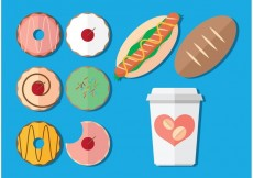 Free vector Coffee and Donut Vectors #16141