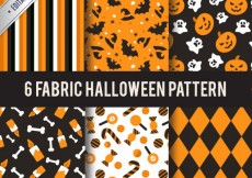 Free vector Collection of halloween patterns #14538