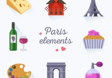 Free vector Collection of paris elements #18616