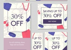 Free vector Collection of shoppingonline banners #16359
