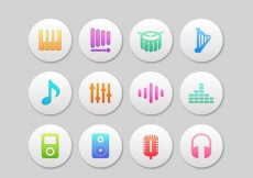 Free vector Colordul music icons #16373