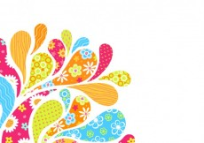 Free vector Colorful arc drops background #13784