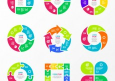 Free vector Colorful charts for infographic #12751