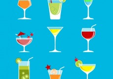 Free vector Colorful cocktails #14307