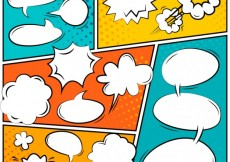 Free vector Colorful comic speech bubbles #13626