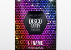 Free vector Colorful disco flyer #14783