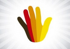Free vector Colorful hand silhouette #14554