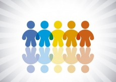 Free vector Colorful human silhouette #14558