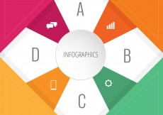 Free vector Colorful Infographic Design with Icons #12748