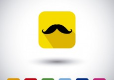 Free vector Colorful moustache icons collection #15872