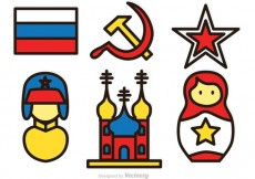 Free vector Colorful Russian Vector Icons #19655