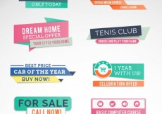 Free vector Colorful sale banners #16999