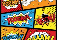 Free vector Comic backgrounds #13632